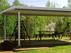 free standing aluminum patio covers. A Free Standing Patio Covers Is Supported By Beams And 3\ Aluminum U