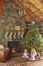 Cozy rustic outdoor christmas decoration ideas Rustic Farmhouse Holiday Mantels Country Living Magazine 56 Christmas Mantel Decorations Ideas For Holiday Fireplace Mantel