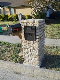 brick mailbox flag. My Dad Built The New Stone Mailbox On Right, Replacing Old One Brick Flag