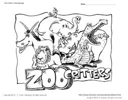 Small Picture Zoo Critters Coloring Page