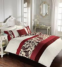 Oriental Flower' King Duvet Cover Set in Red, Includes: 1x King ... & Luxury Duvet Cover King Size Kingsize With Pillowcases Quilt Bedding Set  Reversible Poly Cotton , Scroll Adamdwight.com