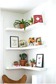 Oak Corner Floating Shelves Chunky Floating Shelves Make Shelf HealthFestBlog 89