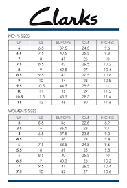 Clarks Mens Shoes Size Chart Best Picture Of Chart