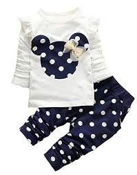 cute toddler baby s clothes set long sleeve t shirt and pants kids 2pcs outfits