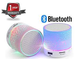 Light Speaker Drumstone Rechargeable Bluetooth Outdoor Light Speaker With Led Light Support Tf Card Mic Compatible With All Smartphones