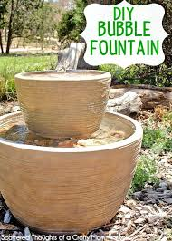 diy outdoor water fountain projects idea of how to make a bubble in pot ideas