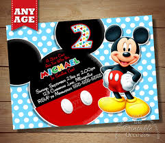 Mickey Mouse Birthday Invitations Template Free. Mickey Mouse ...