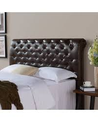 brown upholstered headboard. Beautiful Brown And Gardens Rolled Tufted Upholstered Headboard Brown Bonded Leather  Multiple Sizes Throughout Headboard