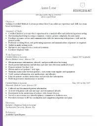 Resume Samples For Medical Assistant Medical Assistant Resume ...