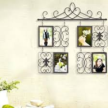 wall hanging decorative 4 opening decorative iron metal wall hanging collage picture frame decorative wall hanging wall hanging decorative