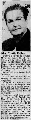 Myrtle Fletcher Railey Obituary - Newspapers.com