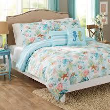 details coastal beach 5 piece full queen comforter set
