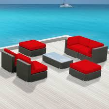 Contemporary Patio Furniture Sofa Sets Modern Sofas Belizo Aphrodite 7 Pcs Wicker Patio
