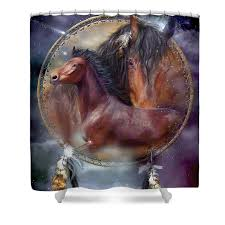 Horse Dream Catchers For Sale Dream Catcher Spirit Horse Shower Curtain for Sale by Carol 2