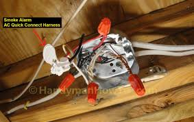 how to install a hardwired smoke alarm ac power and alarm wiring brk smoke detector wiring harness at Smoke Detector Wiring Harness