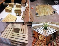 pallet crate furniture. Fine Crate Coffee Tables Out Of Reclaimed Crates Pallet Furniture    In Pallet Crate Furniture E