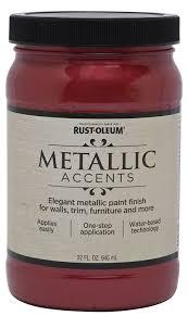 Decorative Glaze Rustoleum Rust Oleum Metallic Accents 253613 Decorative 32 Ounce Quart Water