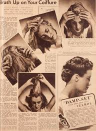1930s Hair Style hair styles and products of 1939 the war time woman 3711 by wearticles.com