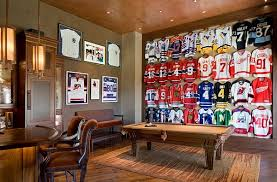 Framed Jerseys: From Sports-Themed Teen Bedrooms To Sophisticated Man Caves!  | Men cave, Cave and Teen