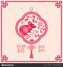 chinese new year card 2020 greeting card with chinese new year 2020 white rat on the