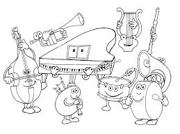 Small Picture Kids Under 7 Musical instruments Coloring Pages
