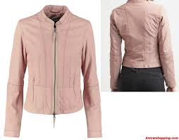 women pink leather jacket 787973 zoom helmet