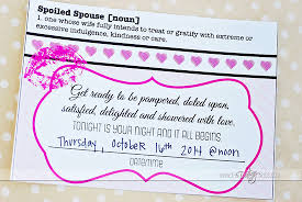 date night invitation template spoil your spouse date night