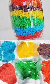rainbow rice pic for 19 diy summer crafts for kids to make easy