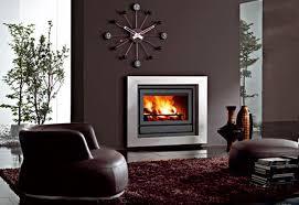 contemporary fireplace surround steel stainless steel bix box edilkamin