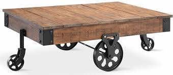 Mill Cart Coffee Table Timbergirl Reclaimed Wood Industrial Cart Wheels Coffee Table