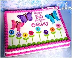 Butterfly Cake Image Birthday Template Easy Ideas Synclaco