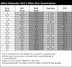 Allen Edmonds Width Size Chart Hot Girl Shoes Allen Edmonds Shoe Sizing Guide