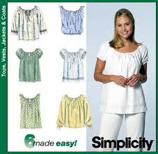 Simplicity Blouse Patterns Custom Simplicity 48 From Simplicity Patterns Is A Peasantstyle Blouse