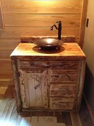 Custom Rustic Cedar Bathroom Vanity Cabinet 36 Inch Barn Bathroom