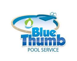 pool service logo. Blue Thumb Pool Service Has Selected Their Winning Logo Design.