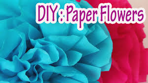 How To Make Flower Using Crepe Paper Diy Crafts How To Make Crepe Paper Flowers Very Easy Ana