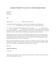Scholarship Donation Thank You Letter Templates At