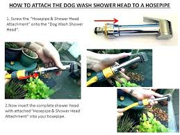 dog shower hose attachment grooming ring attach the bath bathtub for washing wash faucet water circle