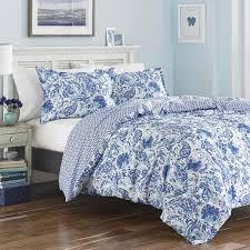 poppy fritz brooke cobalt and white paisley cotton duvet cover set