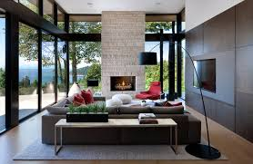 modern living room. West Vancouver Residence Modern-living-room Modern Living Room