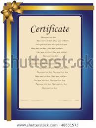 Congratulation Certificate Certificate Paper Congratulation Stock Vector Royalty Free