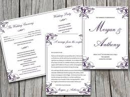 Microsoft Wedding Program Templates Download Now Half Fold Wedding Program Template Microsoft Word