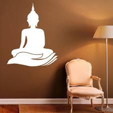 buddha wall decal indian design lotus flower vinyl stickers