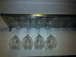 hanging wine glass rack ikea wine rack ers ikea stainless steel hanging wine glass rack