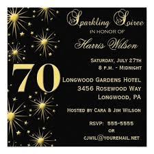 70th Birthday Party Invitations Wording Crafts Birthday