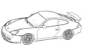 Kleurplaat Porsche