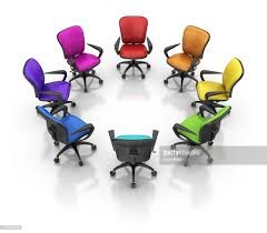 colorful office chairs. Colorful Office Chairs : Stock Photo F