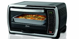 oster 6 slice black polished stainless steel toaster oven