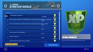 Fortnite Chapter 2 Season 1 Stretch Goals Challenges Focus