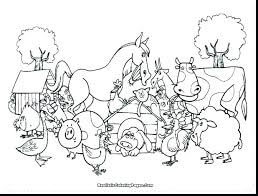 Farm Animals Coloring Pages Coloring Pro